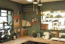 workspace desk, home office