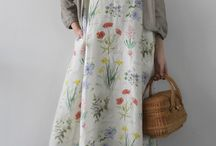 Linnekläder / Linne, klänningar