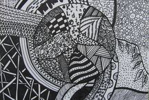 zentangle and colouring