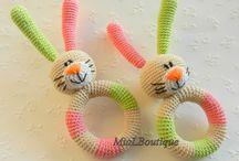 Háčkované hračky pro miminka (Crochet toys for babys)