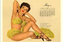 Vintage Calendar Girls