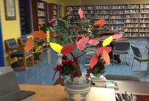 """JOHN RENNIE HIGH SCHOOL / Reading and Book Reviews  The JRHS Library """"Imagination tree"""" continues to grow every year."""
