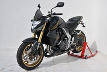Honda CB 1000 R 2014/2016 by Ermax Design / Accessories, nose screen, rear hugger, belly pan, exhaust, undertail, seat cover