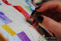 Hand quilting big stitch