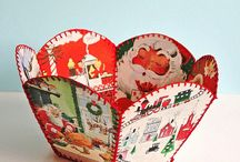 Vintage card crafts