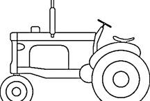 Pin di trattori da colorare