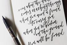 calligraphy / brushlettering