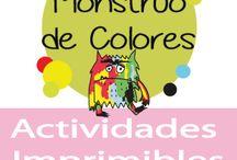 El Monstruo de Colores. Actividades / The Color Monster. Activities / Recopilación de ideas para actividades, juegos, manualidades e imprimibles del cuento El Monstruo de Colores // Collecting ideas for activities, games, crafts and printable of The Color Monster