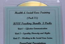 Health and Social Care Training Resources / Resources for teachers and trainers