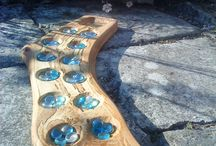 Games / Handmade/carved wooden games.