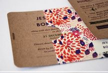 Wedding invite inspiration  / Inspiration and neat ideas for wedding invites