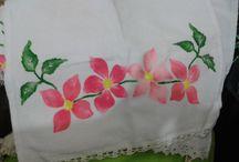 Toalha de prato pintada