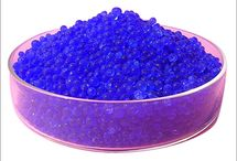 Silicagel Blue / Silica gel blue is another option for controlling moisture which is obtains cobalt chloride in it. When silica gel is absorbing moisture, gel's beads color is change from blue to purple to pink, this is indicate the gel needs to be replaced or regenerate.