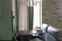 Квартира.Интерьер с намеком на лофт / Интерьер трёхкомнатной квартиры в современном стиле.