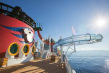 """Disney Magic - Disney Cruise Line / Sail on the Disney Cruise Line's """"Reimagined"""" Disney Magic Ship.  Sail to Cataway Cay and other great destinations.  Eat at  Palo, Animator's Palate,  Lumiere's, and  Carioca's.  Enjoy the Kid's Clubs - Oceaneer Club and Oceaneer lab and even MARVEL's Avengers Academy! Swim in AquaLab and Goofy's Pool, and adults can enjoy the Quiet Cove Pool. Thrill seekers will not want to skip AquaDunk, the exciting drop-out waterslide."""