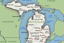 "Michigan (I'm a true ""Michigander"") / by Sandy Feasby"