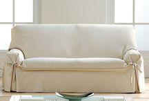 Fundas de sofa con lazos / Selección de fundas de sofa con lazos, ideales para decorar y proteger nuestros sofas con un toque de glamour añadido.