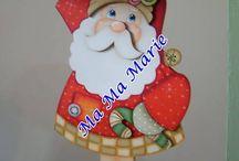 Peças de Natal em MDF / Peças para jardim, enfeites de mesa e balcão, cantoneiras, astes, utilitários, cordões, plaquinhas e outros.