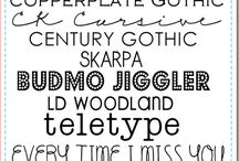 just my type / Typography, fonts, lettering, etc. / by Tehia Worley