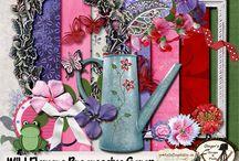 Progressive Scraps / Monthly scrap hosted by myself - Ginger's Scraps N Pixels, Vickie - Dana's Footprint Design and Darlene - Studio 4 Designswork