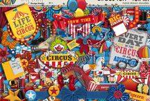 """Circus Fun is in town!! / COME ONE, COME ALL!!! The """"Circus Fun"""" is in town! In spite of these times being traditionally those of awaiting Christmas, a circus has captured my mind and my hands. Its motives are perfect for use in happy pages and colorfully whimsical illustrations. They are also cool for printouts on various occasions. I hope that these characters make you smile and laugh a lot and that you'll be conquered by them the same way I have been! xoxo....Paty"""