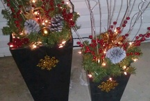 Winter patio planters