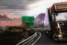 Artistic Modern Truck Hauler / Check out this awesome artistic XXL Hauler Parking game. Whether you are looking to find some artistic inspiration for your next automotive project, you will surely find here something you like!   http://www.vitalitygames.com/games/just-park-it-anniversary.html    http://www.vitalitygames.com/games/just-park-it-anniversary.html