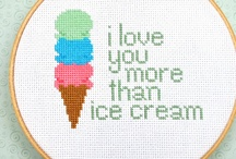cross-stitch / by Marie Vaganay