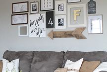 Photo Styled Arrangements on Wall
