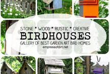 Birdhouses, Yard Art and Gardening / Indoor and Outdoor cottage/country décor and Gardening