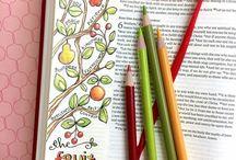 Bible Journaling / Creative ways to enjoy reading the Bible.
