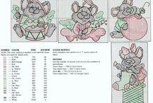 borduurpatroon muisjes