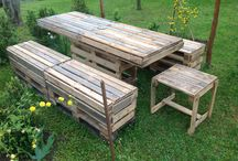 Pallets for garden tables