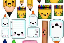 objets for school kawaii