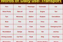 Vocabuary - Transport & Travel