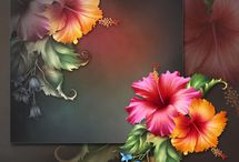 2D цветы