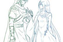 The Goddess Hylia and Link, The Chosen Hero