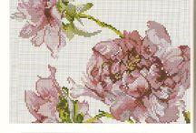 σταυροβελονιά λουλούδια