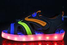 Sandaler med LED-lys