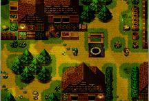 pixel arts image village