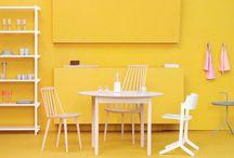 Yellow / Living / Interior / Design / Furniture / Fabrics / Textiles / Wallpaper / Curtains