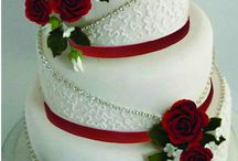 tartas rojas blancas