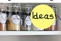 Spice Organization / Spice Racks, Kitchen Storage, Kitchen, Spice Jar Labels, Jars