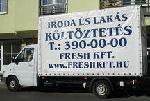 Költöztetés / Költöztetés, áruszállítás magas színvonalon. Ha költözés a gondja mi megoldjuk. http://www.freshkft.hu/koltoztetes