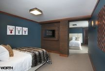 Bed & Rooms