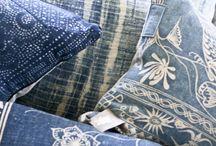 indigo batik home textile