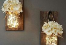 Mason Jar luminaries storage and vases