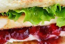 Cranberries cream cheese turkey sandwiches