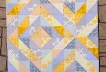 half square triangle and flying geese / by Gale Johnson