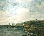 Coastal landscape art
